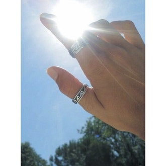 sunshine hippie jewels ring hipster old arm
