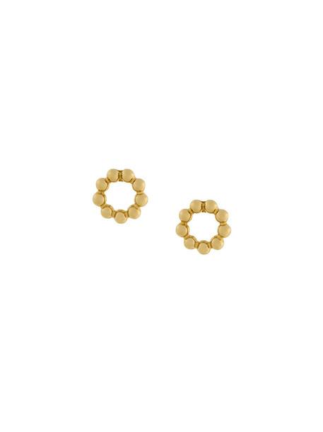 Astley Clarke women beaded earrings stud earrings gold grey metallic jewels