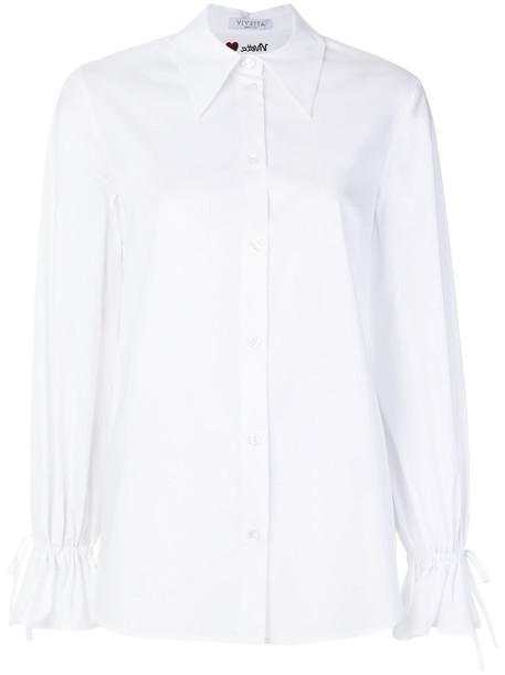 VIVETTA shirt women spandex white cotton top