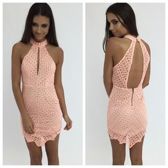 dress peach peach dress party dress peppermayo