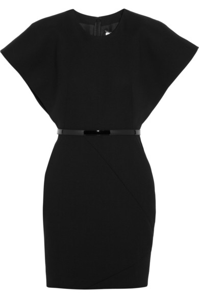 Saint Laurent|Kimono-style wool-crepe mini dress|NET-A-PORTER.COM