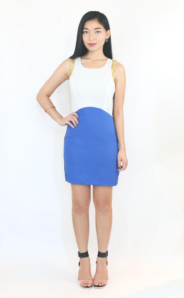 dress blue dress party dress colorblock dress sequin dress holiday dress