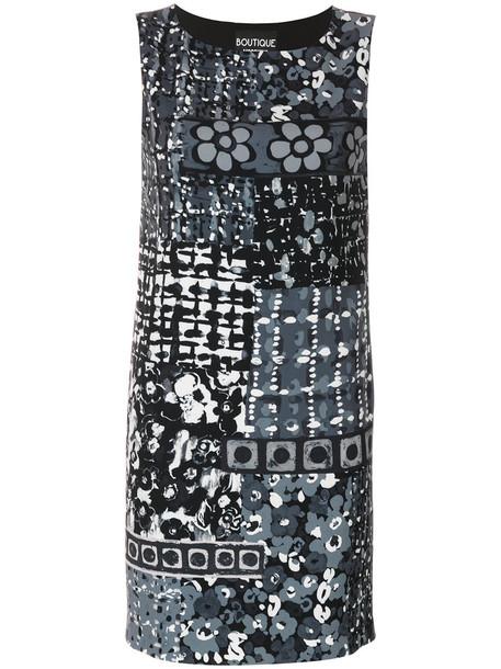 BOUTIQUE MOSCHINO dress print dress women spandex print grey