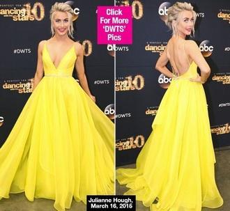 dress julianne hough yellow dress