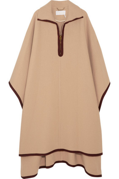 Chloé Chloé - Wool And Cashmere-blend Cape - Camel