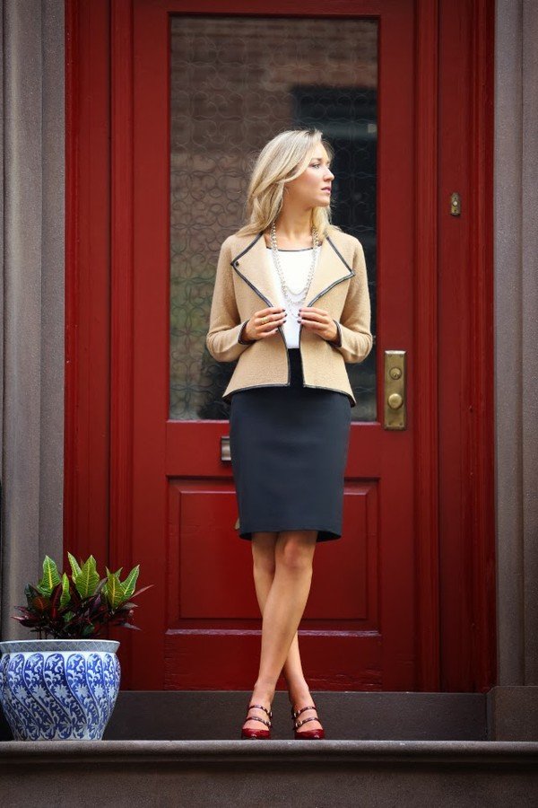 Jacket The Classy Cubicle Skirt T Shirt Shoes Jewels