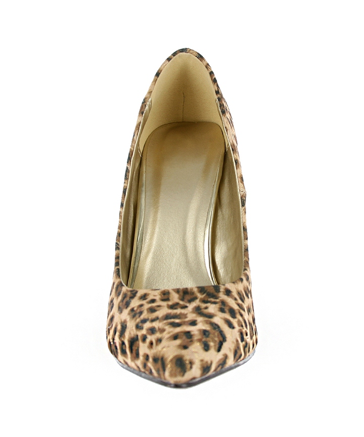 Pointed Pumps with Gold Accent 1 - Cheetah at W SHOES