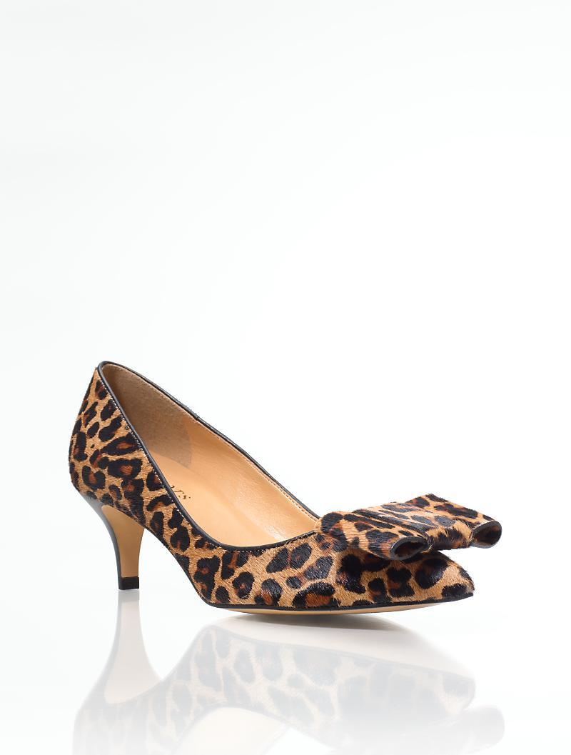 a1b9d078572 Talbots - Dahlia Leopard Haircalf Bow Pumps