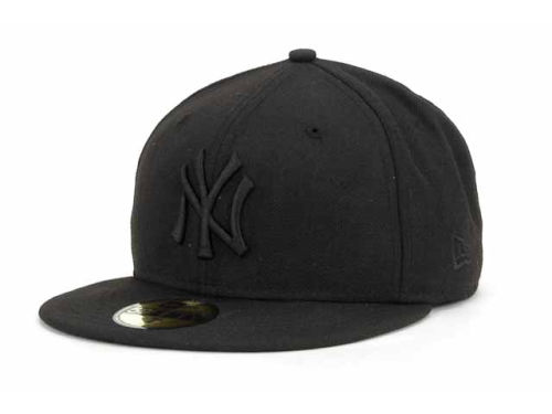 New York Yankees New Era Black New Era MLB Black on Black Fashion 59FIFTY Cap | Lids.com