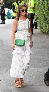 dress,floral,floral dress,wedges,pippa middleton,sunglasses,summer outfits,summer dress