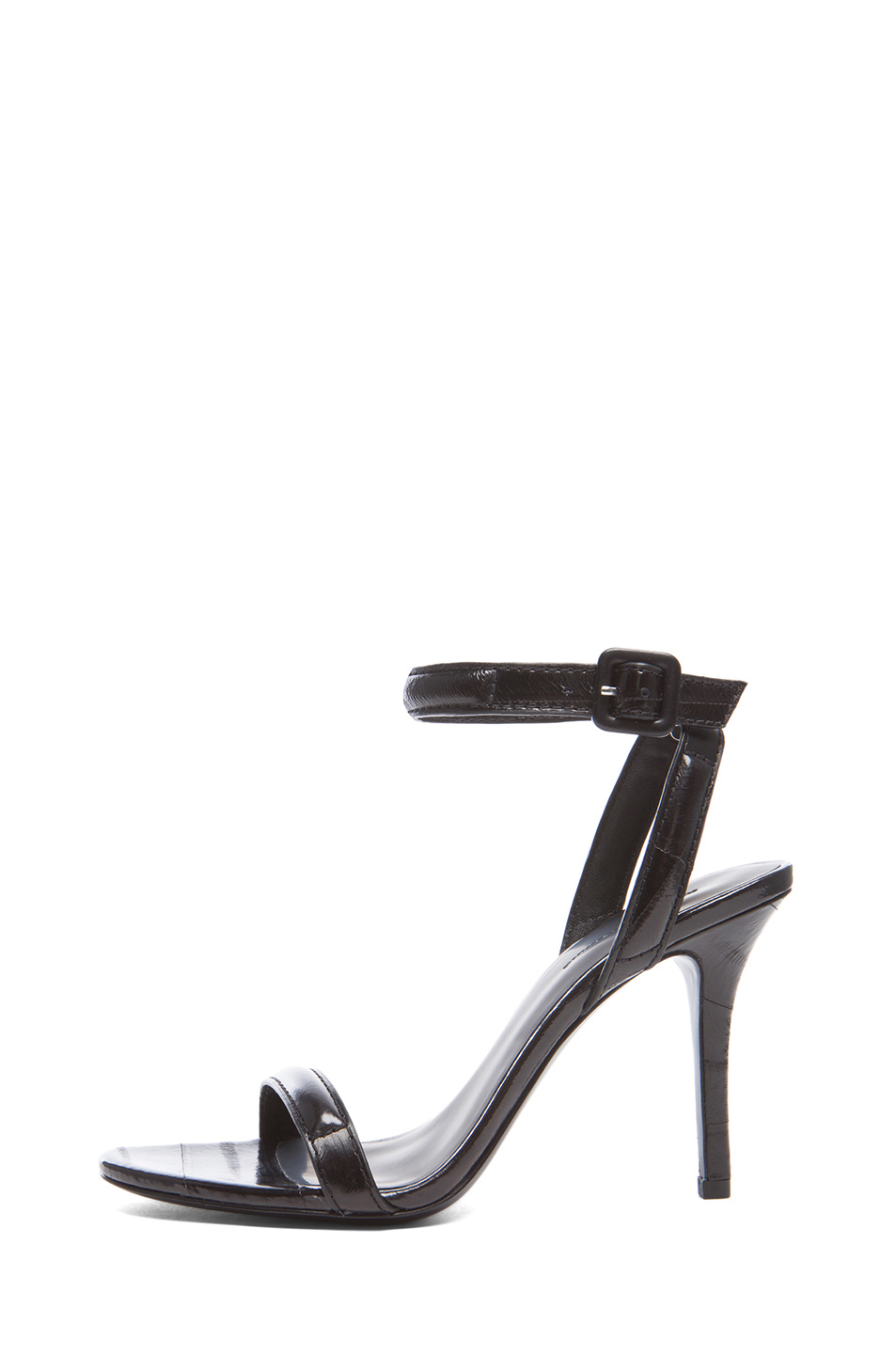 Alexander Wang | Antonia Leather Heels in Black