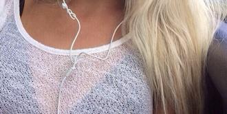 shirt blouse white longsleeved see through