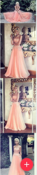 dress pinkish coral prom grad bling sparkle pink coral dress