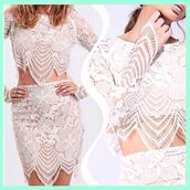 dress,lost souls,white dress,white lace dress,white 2 piece,white 2 piece set,2 piece set women,2 piece skirt set,lace skirt,lace crop top,intricate design,stunning dress,beautiful dresses,cute dress,spring outfits,summer outfits,pretty 2 peice,cute pretty dresses
