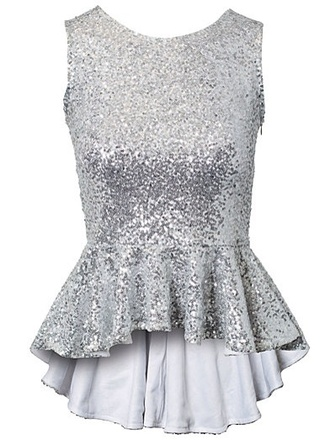 shirt silver sequin top sequins