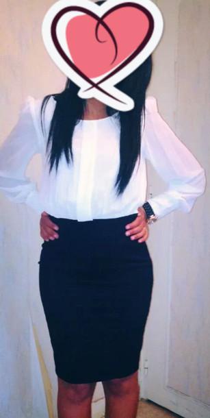 blouse top chemisier white