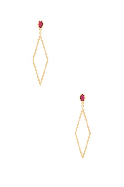 gorjana Dez Drop Hoop Earrings in gold / metallic