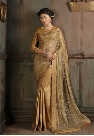 dress saree sarees party wear saree chickoo color saree wholesale suppliers