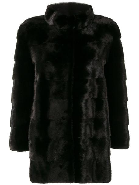Cara Mila coat fur women classic black