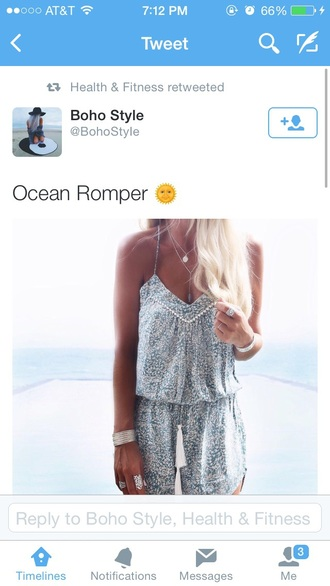 dress romper boho fashion beach
