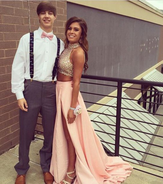 Sexy two piece prom dresses