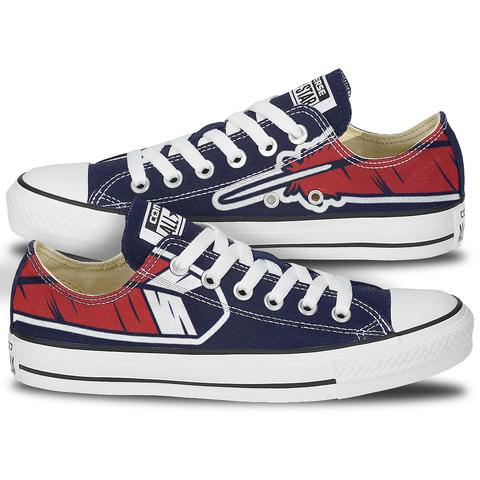6c36a14093f7 Cleveland Feather Converse (Blue Low Tops)