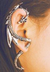 jewels,earrings,bijoux,bronze,style,swag,beautiful,dragon