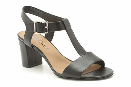 Womens Smart Sandals - Smart Deva in Black Leather from Clarks shoes