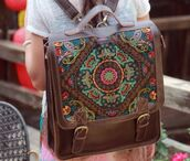 bag,ethnic,rucksack,shoulder bag,buddhist,leather,backpack,boho bag,pattern,boho,indie,vintage,girl,cute,travel,accessories,instagram,weheartit,brown