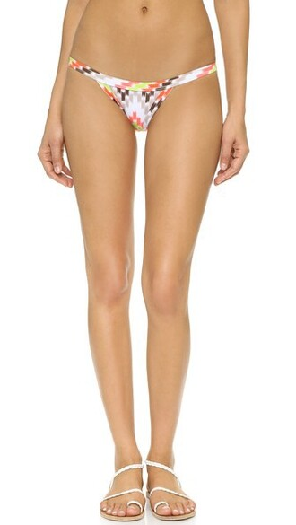 bikini bikini bottoms print swimwear