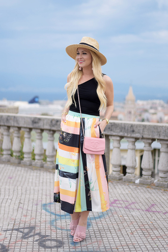 cortinsession blogger top bag hat jewels sunglasses