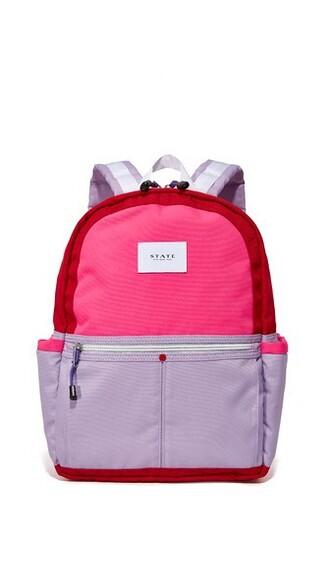 backpack violet red bag
