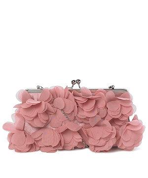 Rose Ruffled Clutch