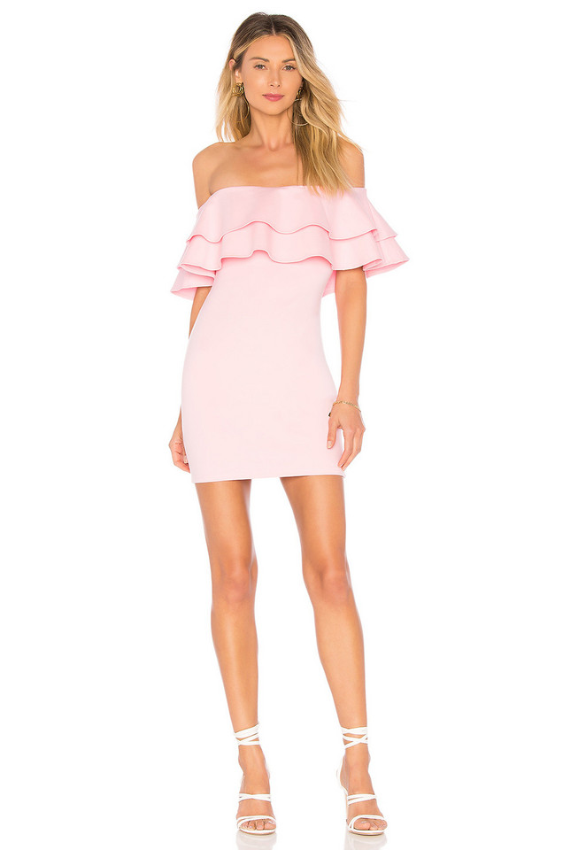 by the way. Rhiannon Tiered Mini Dress in pink