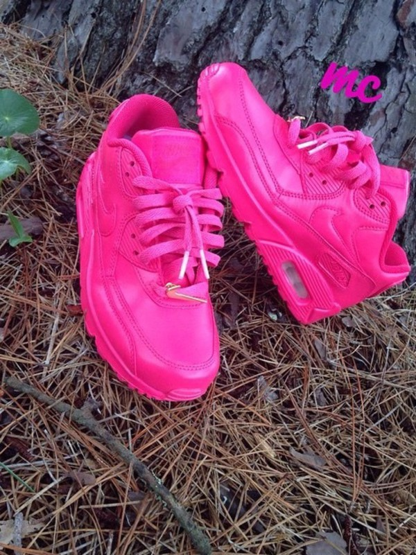 nike air max 90 womens shoes hot sell all pink