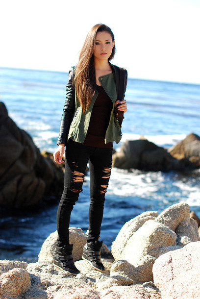 bomber jacket leather