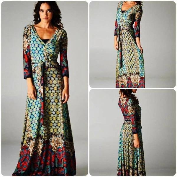 dress maxi dress pattern long sleeve maxi