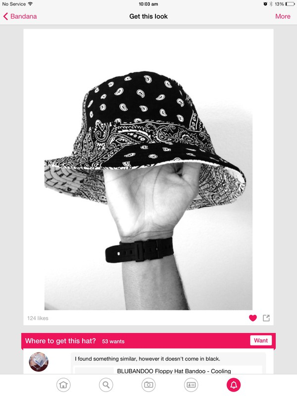 black and white hat bandana print itsmeez