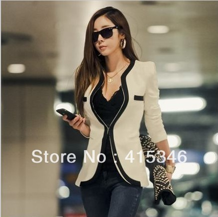 British Style White Suit Jacket  Discount Shearling Coats Women Cashmere Wool Peacoat Overcoat Free Shipping-in Blazer & Suits from Apparel & Accessories on Aliexpress.com