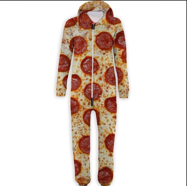 jumpsuit pizza pizza print pajamas miley cyrus pizza