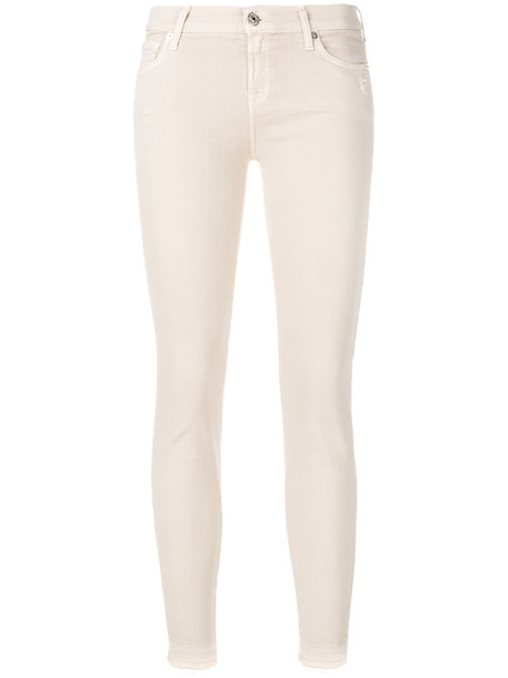 7 For All Mankind jeans women spandex fit nude cotton