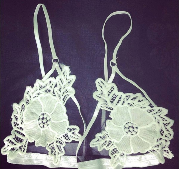 underwear anmin lace bra lace bralette white bralette