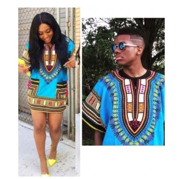 shirt blue dashiki african print