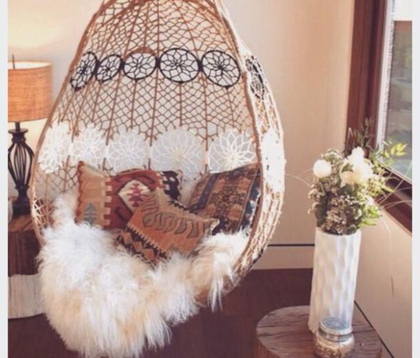home accessory chair beach house sheepskin throw