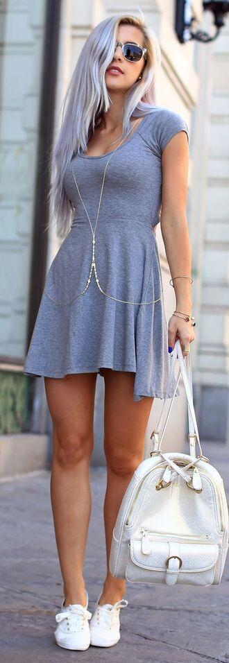 dress cute cute dress nice nice dress nice outfit cute outfits cute outfit pretty grey grey dress grunge pale pale grunge jewels bag shoes