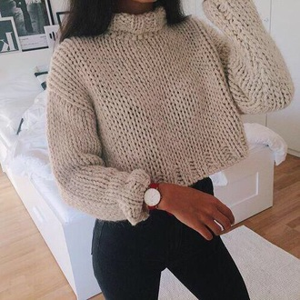 sweater cropped sweater oversized sweater