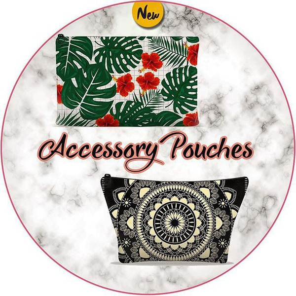 bag famenxtshop pouch printed pouch accessories back to school school supplies graduation fashion mandala tropical floral checkered grid summer style