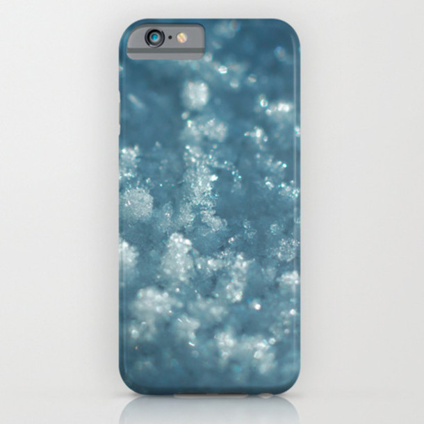 phone cover phone cover snow sold society6 iphone case snow iphone case iphone 5 case iphone 6 case blue iphone case