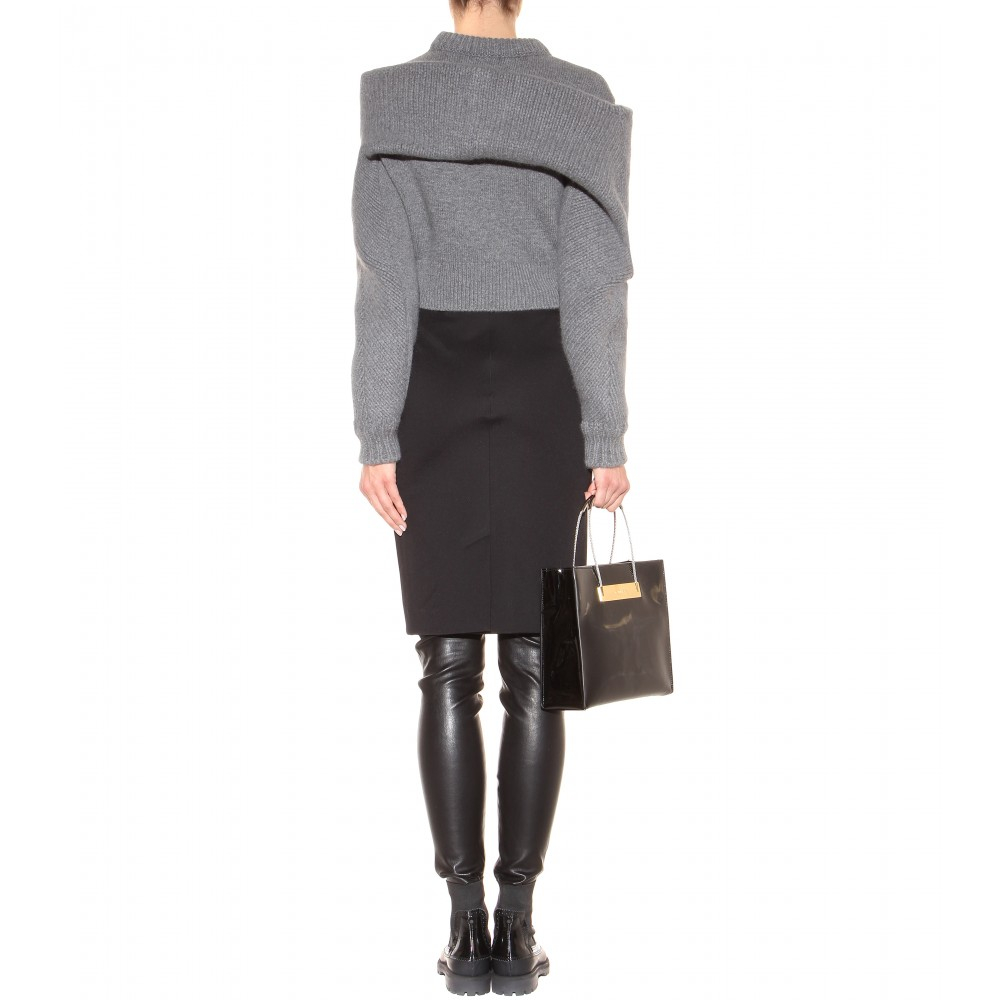 Balenciaga gray wool and angora knit sweater