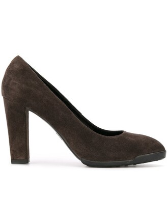 women classic pumps leather suede grey shoes